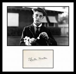 Ultra Cool - Buster Keaton - Comedy Legend - Authentic Hand Signed Autograph