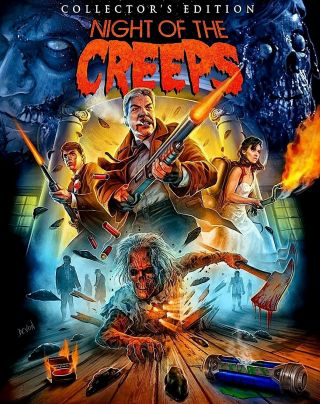 Night Of The Creeps Exclusive Scream Factory Poster - Limited Edition - Oop