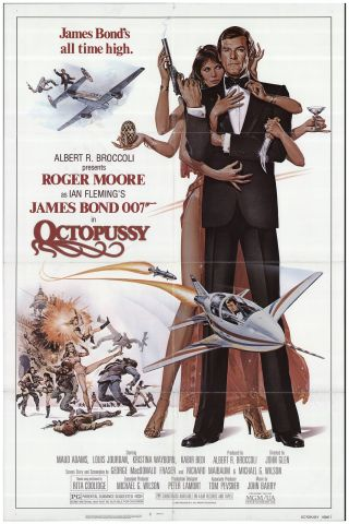 Octopussy 1983 27x41 Orig Movie Poster Fff - 75022 Roger Moore U.  S.  One Sheet