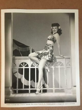 Anne Gwynne Rare Stunning Vintage 8/10 Pin - Up Photo Wwii Gi 40s A