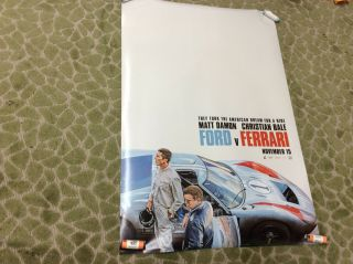 Ford Vs Ferrari D/s Double Sided Movie Poster 27x40 2019