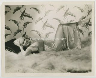 Alice Faye Platinum Blonde Sexy Vintage Portrait Photo 1935