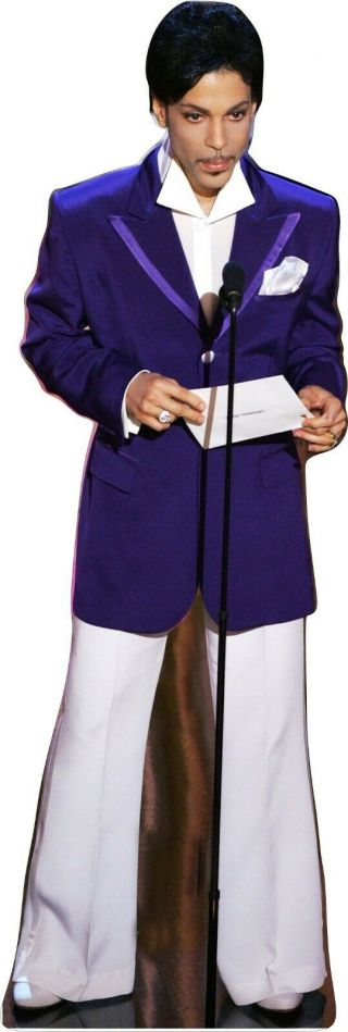 """Prince - Purple Tux Top/white Pant - 62 """" Life Size Cardboard Cutout Standup Standee"""