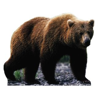 Grizzly Bear Lifesize Cardboard Cutout Standee Standup Poster