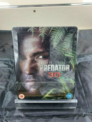 Predator 3d Blu - Ray Steelbook Zavvi Exclusive Uk Rare,  New/sealed
