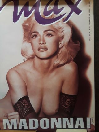 Madonna French Promotional Promo Poster 1991 Max Cover Topless Naked Breast Rare