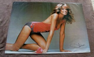 Farrah Fawcett 1977 Sexy Pro Arts Crawl Charlies Angels Poster Vgfn