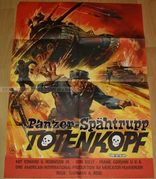 Don Kelly - Leslie Parrish - Tank Battalion Ww2 German Orig Poster