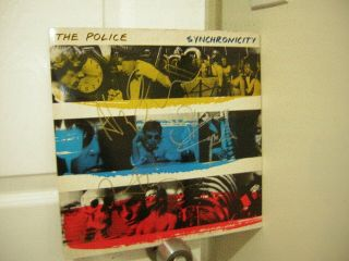 The Police Signed Lp Synchronicity 3 Members Sting