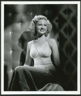 Marilyn Maxwell Vintage 1944 Stunning Mgm Portrait Photo