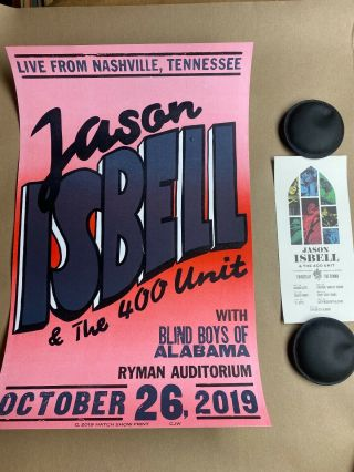 Jason Isbell Hatch Show Print Official Ryman Night 7 Poster 10/26/19 Nashville