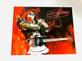Kiss Gene Simmons Signed 8x10 Photo Blood
