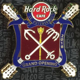 Hard Rock Cafe St.  Petersburg 2018 Grand Opening Go Pin Coat Of Arms Hrc 99548