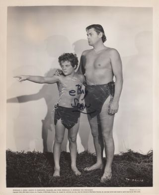 Johnny Sheffield Johnny Weissmuller Vintage Tarzan And The Amazons