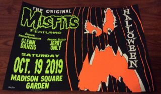 The Misfits Msg Nyc Event Poster 10/19 Madison Square Garden 838/1000