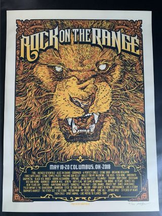 Rock On The Range 2018 Concert Tour Poster - Tool,  Alice In Chains,  Godsmack,