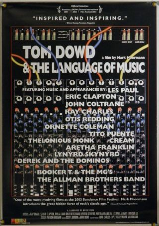 Tom Dowd & The Language Of Music Rolled Orig 1sh Movie Poster Docu (2003)