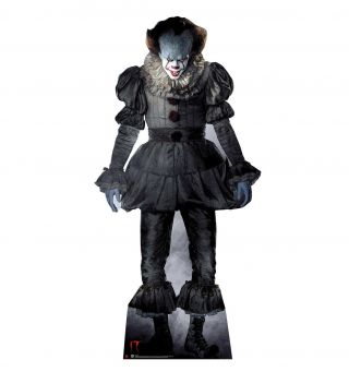 It Pennywise The Clown Lifesize Cardboard Standup Standee Cutout Halloween Prop