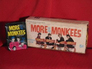 The Monkees More Of 1967 Raybert Donruss Gum Cards Wax Pack Box Only & Wrapper