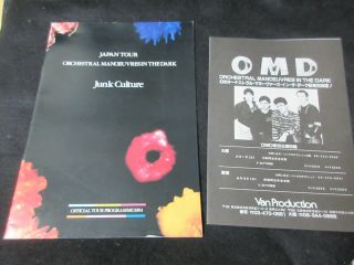 Omd 1984 Japan Tour Book With A Japanese Flyer Concert Program Synth