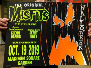 The Misfits Msg Nyc Event Poster 10/19 Madison Square Garden Wow