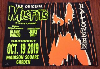 The Misfits Msg Nyc Event Poster 10/19 Madison Square Garden 839/1000