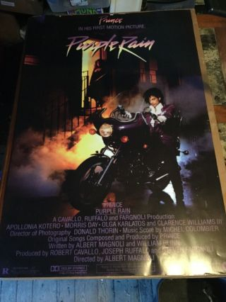 """Vintage 1984 Prince In His First Motion Picture Purple Rain Poster 24"""" X 36"""""""
