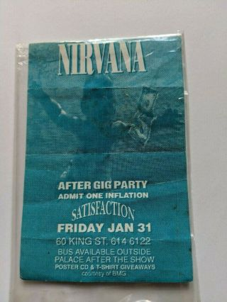 "Nirvana "" After Gig Party "" Ticket From Their Australian Concert In Melbourne."