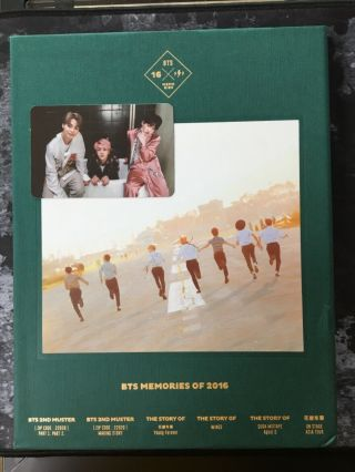 Bts Memories Of 2016 Official Dvd Photobook Set With Photocard Korean Ver