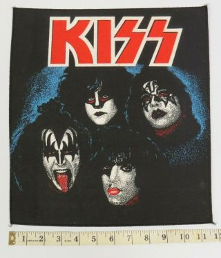 Kiss Backpatch Creatures Of The Night Theme - Uk Release 1980