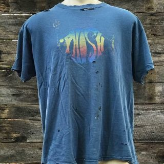 True Vintage Phish Shirt 1996 Logo Heavily Distressed Size Xl