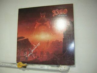 Dio Signed Lp Last In Line 1984 Ronnie James Dio