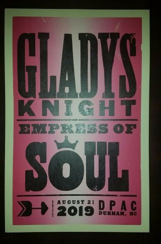 Gladys Knight Hatch Show Print Dpac Durham Nc 2019 Tour Poster Empress Of Soul