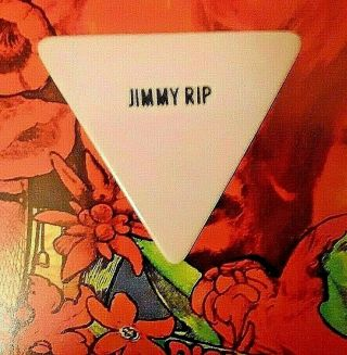 Mick Jagger/jerry Lee Lewis Jimmy Rip Over - Size Triangle White Guitar Pick
