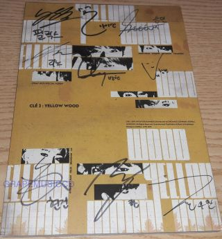 Stray Kids Clé 2 : Yellow Wood Clé2 Ver.  K - Pop Real Signed Autographed Promo Cd
