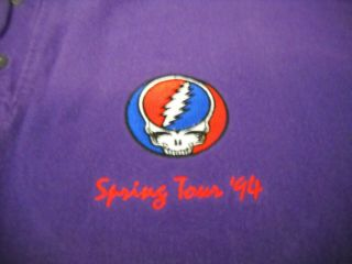 Grateful Dead Embroidery Steal Your Face Spring 1994 Concert Crew Sweatshirt -