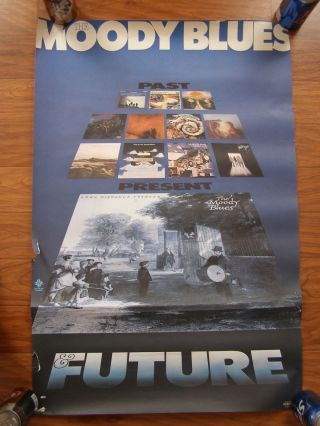 Vintage Music Poster 1981 The Moody Blues Past Present Future Rock Band