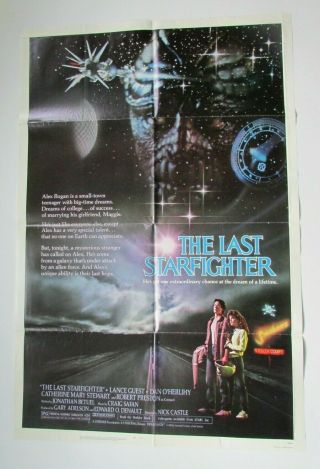 "The Last Starfighter 1984 Movie Poster 41 "" X 27 "" Folded One Sheet"