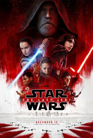 Star Wars The Last Jedi Theatrical Poster 27x40 Authentic