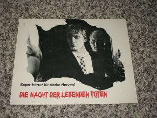 Night Of The Living Dead German Cinema Lobby Card First Release - A.  Romero C