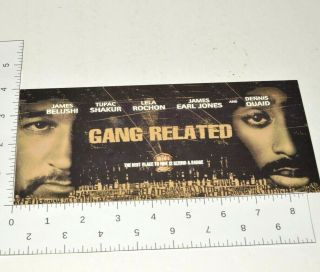 Tupac Gang Related Collectible Advance Movie Screening Ticket Cast Photo Card