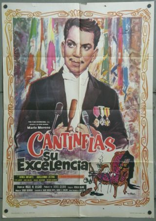 Tu43d Cantinflas Su Excelencia Orig 1sh Poster Spain A