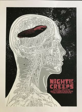 Night Of The Creeps By Chris Garofalo (qfschris),  Glow In The Dark Poster,