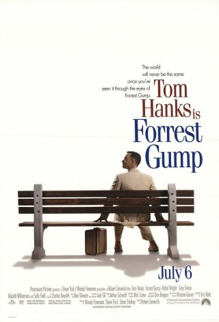 Forrest Gump 1994 27x41 Orig Movie Poster Fff - 10948 Rolled Near,  Very Fine