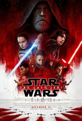 Star Wars: The Last Jedi Theatrical Double Sided 27x40 Theatrical Poster Ds