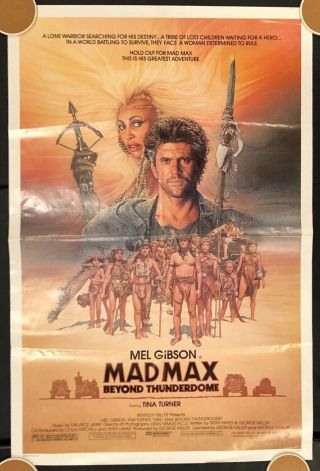 Mad Max: Beyond Thunderdome One Sheet Ss/folded Movie Poster - 1985
