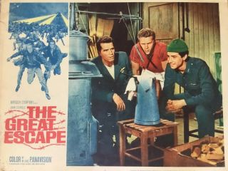 The Great Escape Movie Lobby Card Poster 1963 Vintage Steve Mcqueen
