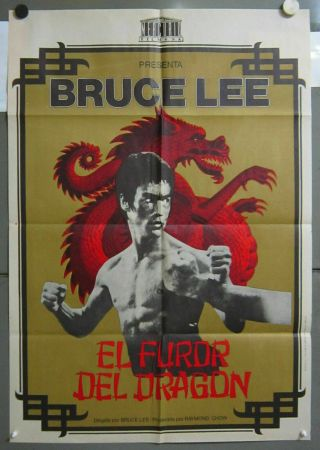 Zs58 The Way Of The Dragon Bruce Lee Chuck Norris 1sh Spanish Poster