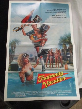 Vintage Movie Poster 1 Sh Fraternity Vacation Stephen Geoffreys 1985