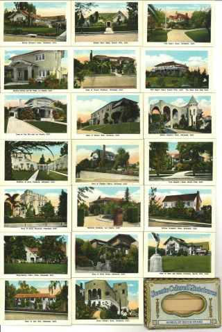 Scenic Colored Miniatures Homes Of The Movie Stars (1924) Complete Set Of 20